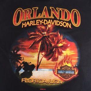 Harley Davidson T-shirt medium black Orlando